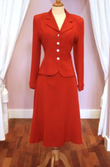 1940s Vintage Red Suit - Mela Mela