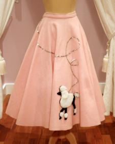 1950s Vintage Pink Felt Full Skirt - Mela Mela