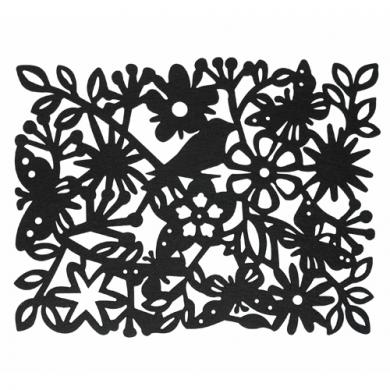 Enchanted Forest Placemat Black - DotComGiftShop