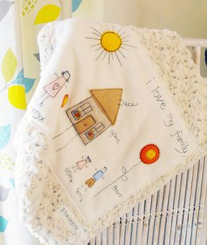 Spots & Dots for Tots - 'My Family' blanket