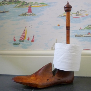 Shoe last toilet roll holder - Homes & Dreams