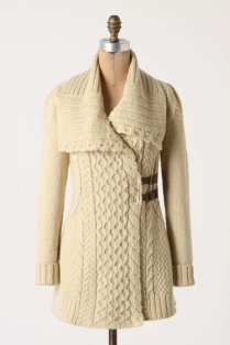 Blanched & Buckled Cardigan - Anthropologie
