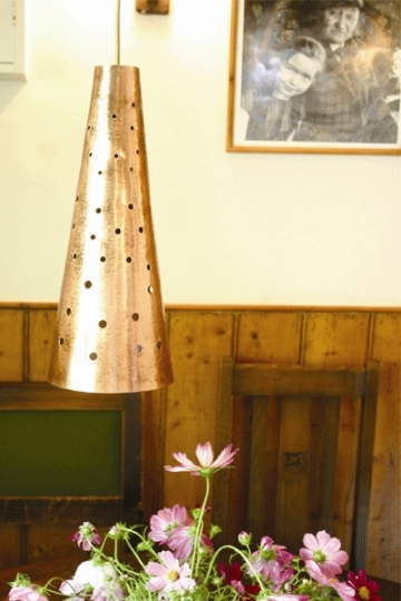 Perforated Copper Lamp - The French House