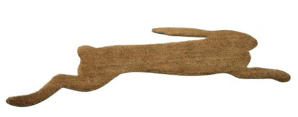 Hare Door Mat by Droog