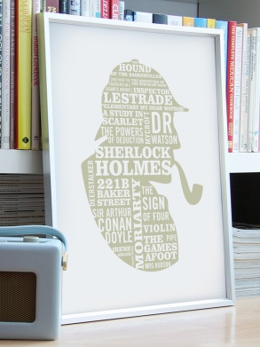 Elementary! A2 Typographic print - Typaprint