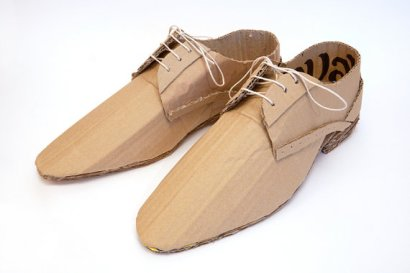 Cardboard Smart Shoes (quavers) - MarkofBrien
