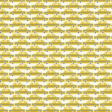 Debbie Powell Yellow Taxi Gift Wrap - Lagom Design