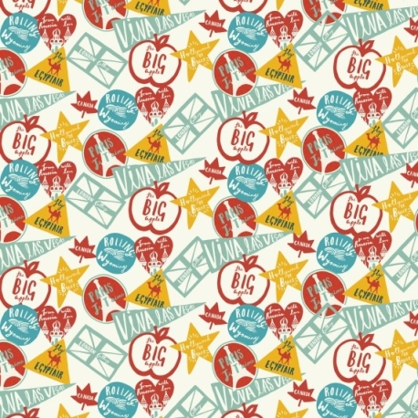 Debbie Powell Travel Stickers Gift Wrap - Lagom Design