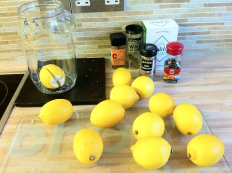 Ingredients for preserved lemons