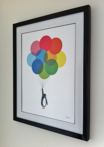 Mr Penguin With Balloons - Showler & Showler
