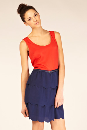 Scallop 2 in 1 Dress - Oasis