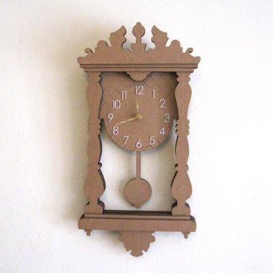Cardboard Pendulum Wall Clock - Seequin