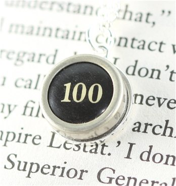 100 Typewriter Necklace - qa create