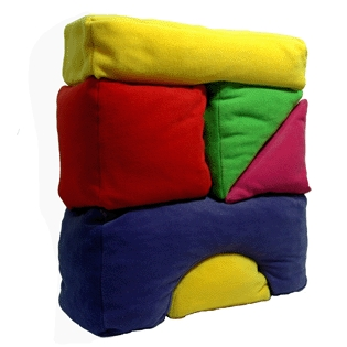 Building block scatter cushions - Zincwhite
