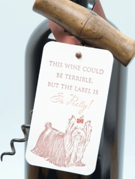 'But the label is so pretty' wine tag - Papermash