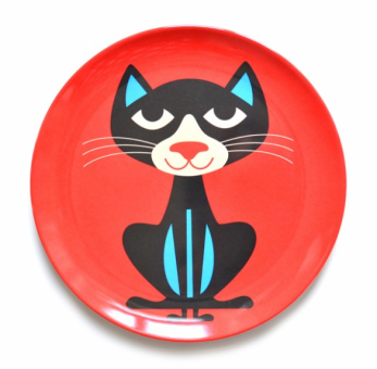 Cat Plate by Ingela P Arrhenius