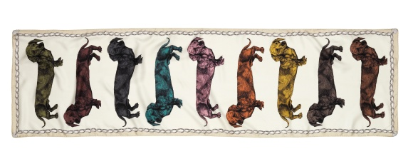 Rainbow Dachshund Scarf by Lisa Bliss - The Graduate Collection