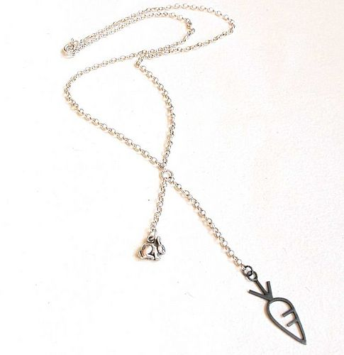 Hungry Bunny Necklace by Anne Morgan Contemporary Jewellery