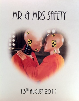 Mr & Mrs Safety - Our Wedding Invite