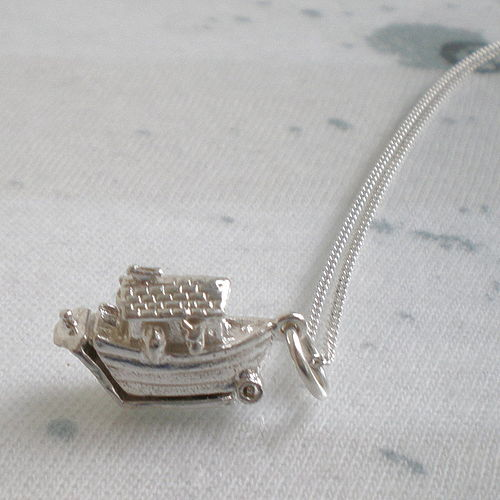Noah's Ark Opening Pendant - Lullaby Blue