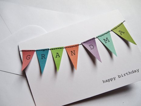 Personalised Bunting Card - GX2 Homegrown