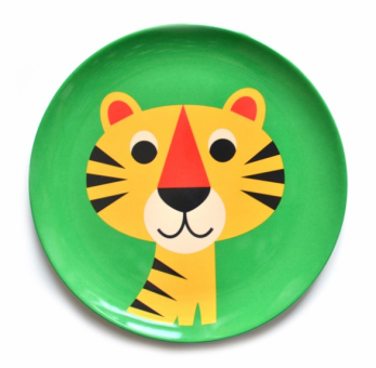 Tiger Plate by Ingela P Arrhenius