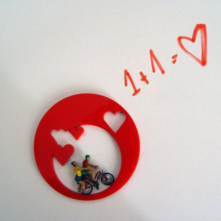 A Ride With Valentine Pin Red - The Mesh