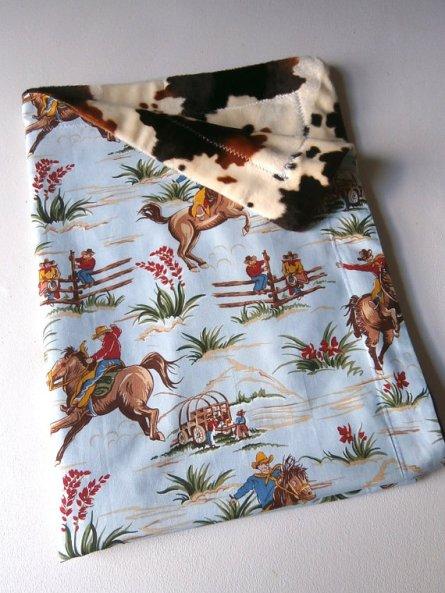Cowboy Western Baby Blanket - Carousel Belle
