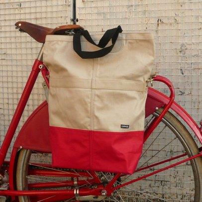 Linus Sac pannier Beige - Cyclechic