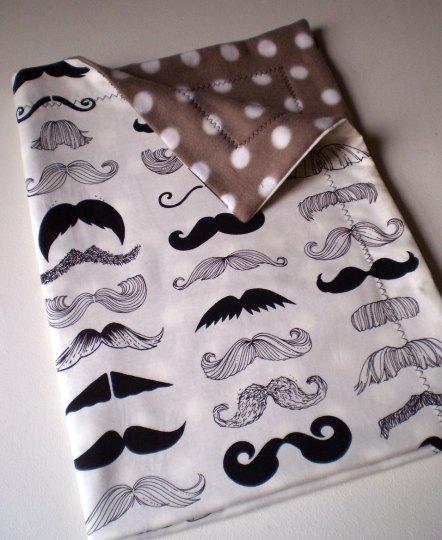 Moustache Baby Blanket - Carousel Belle
