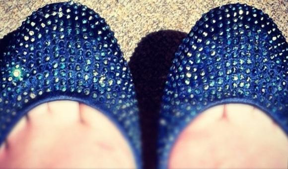 PLEASANTON D - Diamante Embellished Ballerina - Dune