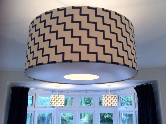 My homemade lampshades trio