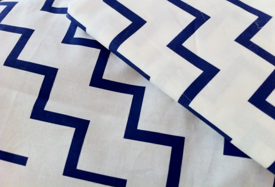 Bias Zig Zag Navy on White by RuthiePearl at Spoonflower