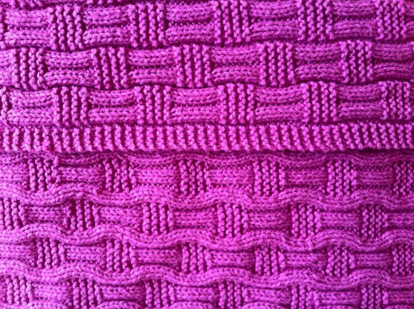 My attempt at The Wooly Knitter's Bethan Baby Blanket