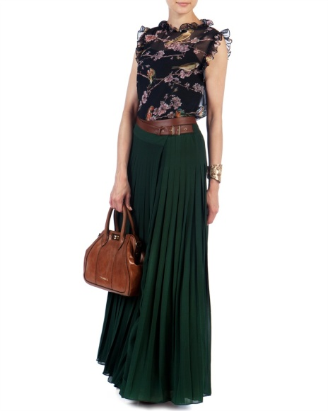 Pleated Maxi Skirt GALVA - Ted Baker