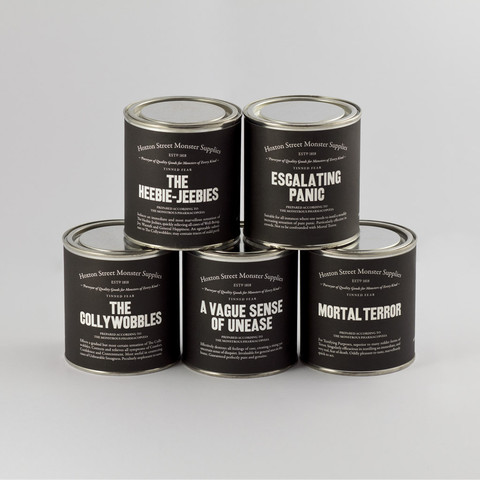 Hoxton Street Monster Supplies - Range of Tinned Fear
