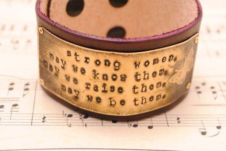 Que Sarah Sera Creative Metal Jewelry - Strong Women Bracelet Cuff