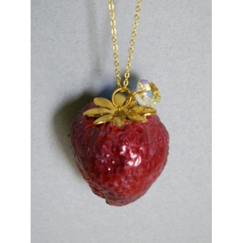 Rebecca Wilson - Juicy Strawberry Necklace