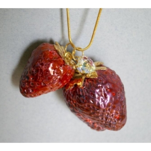 Rebecca Wilson - Two Juicy Strawberries Necklace