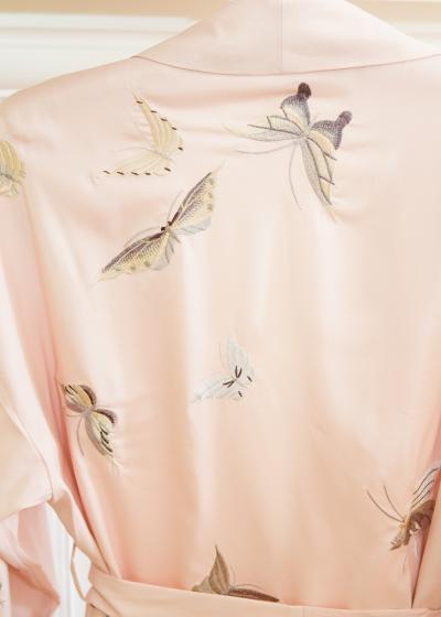 Butterfly kimono back view - Lunn Antiques
