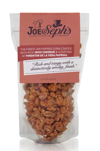 Joe and Seph's Cheddar and smoked paprika Popcorn